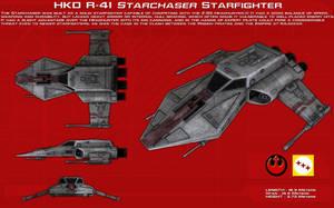 R41 Starchaser Starfighter ortho [New] by unusualsuspex