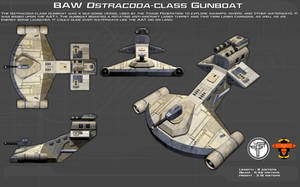 Ostracoda-class Gunboat ortho [New] by unusualsuspex