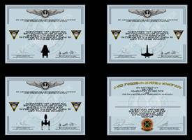 Star Wars Flight Graduation cerificates by unusualsuspex