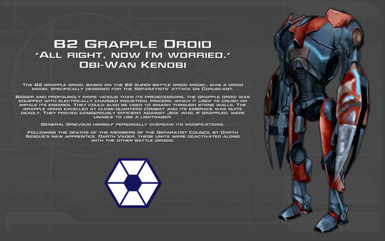 B2 Grapple Droid tech readout [New] by unusualsuspex