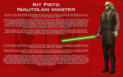 Kit Fisto character bio [New] by unusualsuspex