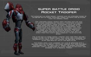 Super Battle Droid Rocket Trooper tech readout by unusualsuspex