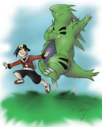 Me and My Huge Killer Dinosaur by phoenixsong