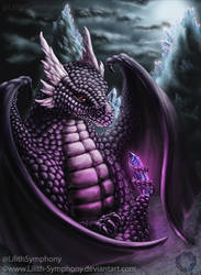 Dragon: Guardian of crystal by Lilith-Symphony