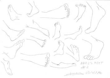 Disney feet training - Ariel's feet sketch #2 by Sacha31