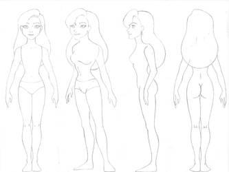 Wendy body turn around sketch by Sacha31