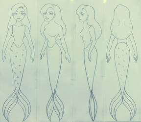 Wendy as a mermaid sketch by Sacha31
