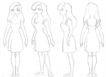 Ballerina dress sketch  # 1 by Sacha31