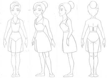 Ballerina dress sketch  # 2 by Sacha31