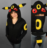 Umbreon Hoodie by SewDesuNe