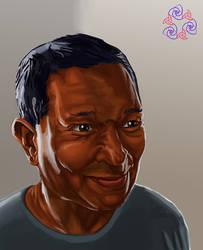 Portrait of my father by Xerovore