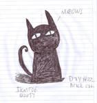 Inktober Day 22 - Black Cat by IkaMusumeFan06