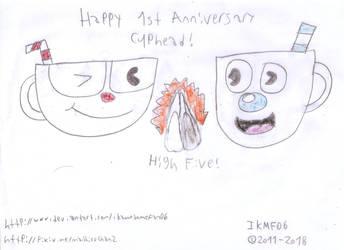 Cuphead 1st Anniversary by IkaMusumeFan06