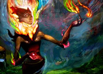 Elemental Summoner by Fyreant