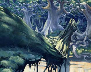 Urza's Saga Forest by Fyreant