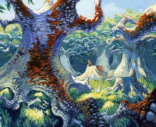 Urza's Saga Forest 02 by Fyreant
