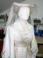 Renaissance gown-detail by azdaja