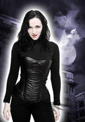 Vampire Selene Overbust Corset by azdaja