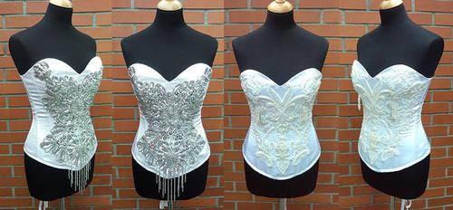 Wedding corsets by azdaja