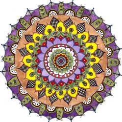 Mehndi Mandala coloured by Eyespiral