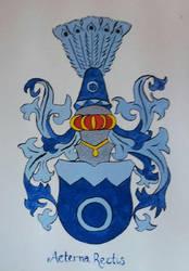 Watercolour van der Hilst crest by Eyespiral