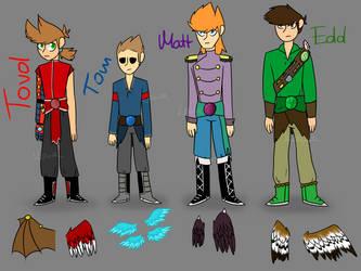 Characters Ref Sheet's DarkLight AU [EDDSWORLD AU] by SuperSaiyanPL