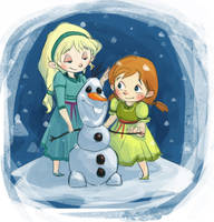 Our Snowman by sleepy-KC