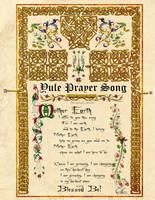 Yule Prayer Song, Illuminated Manuscripts by Brightstone