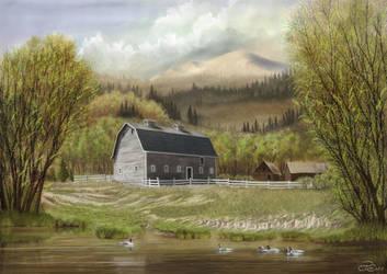 Oregon Farm by Brightstone