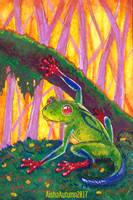 ACEO  Cacao Froggy by Aisha-Autumn