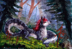ACEO Forest Glade by Aisha-Autumn