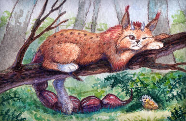 ACEO Sleepy noon by Aisha-Autumn