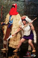 San and Ashitaka from Princess Mononoke by Reneks