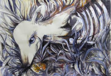 deer decay painting by lavender-lemonade