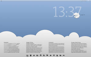 Simple Clouds Desktop by Sourg