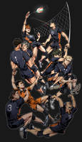 Haikyuu!! We're all in this together by AcceCakes