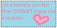 Yuri fan...not lesbian Stamp by MochaKitsune