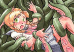 Commision: Schoolgirl Tentacle Monster by satoita