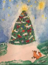 Fox at Christmas  by Haska607