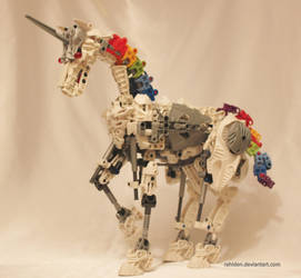 Bionicle MOC: Robot Unicorn by Rahiden