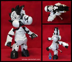Bionicle MOC: Zeebo the Zebra by Rahiden