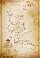 Map of the Audhdom of Ithrien by gingertom84