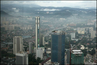 KL from the Petronas Towers by PLazarou