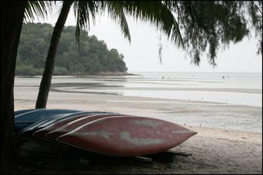 Boats on a beach by PLazarou