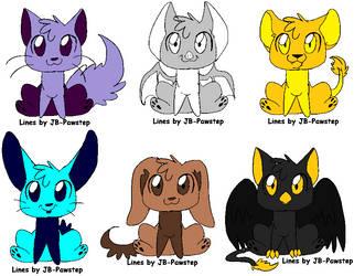 Doodle Chibi Animals! 3 left by blaze441
