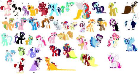 Free! Ponies :D by blaze441