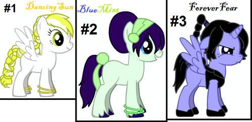New Pony Adoptables by blaze441