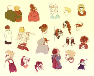 Ferry Sketches by marlenakate