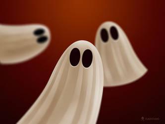 Halloween Ghosts by vladstudio