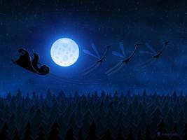 Santa Flying 2 by vladstudio
